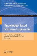 Knowledge Based Software Engineering
