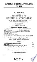 108 2 Hearings  Department of Defense Appropriations For 2001  Part 3  February 16  2000   Book