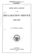 Annual Report of the Reclamation Service