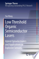 Low Threshold Organic Semiconductor Lasers
