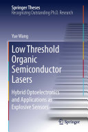Pdf Low Threshold Organic Semiconductor Lasers