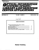 Optical Information Systems Update Library Information Center Applications