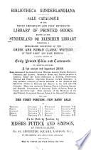 Bibliotheca Sunderlandiana