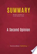 Summary A Second Opinion Book PDF