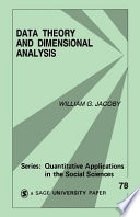 Data Theory And Dimensional Analysis Book PDF