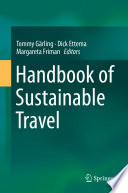 Handbook of Sustainable Travel Book