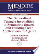 The Generalized Triangle Inequalities in Symmetric Spaces and Buildings with Applications to Algebra