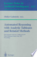 Automated Reasoning With Analytic Tableaux And Related Methods