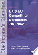Blackstone's UK and EU Competition Documents