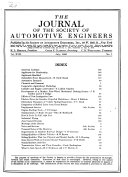 The Journal of the Society of Automotive Engineers