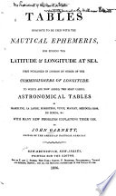 Tables Requisite to be Used with The Nautical Ephemeris