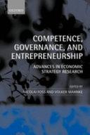 Competence, Governance, and Entrepreneurship