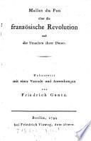 Über die französische Revolution und die Ursachen ihrer Dauer