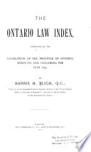 The Ontario Law Index
