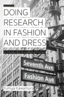 Pdf Doing Research in Fashion and Dress Telecharger