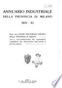 Annuario industriale della Provincia di Milano