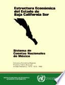 Estructura económica del estado de Baja California Sur. Sistema de Cuentas Nacionales de México. Estructura económica regional. Producto Interno Bruto por entidad federativa 1970, 1975 y 1980