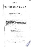 Nieuw Woordenboek Der Nederlandsche Taal