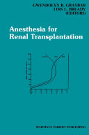 Anesthesia for Renal Transplantation