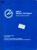 DMCA Section 104 Report  Public comments