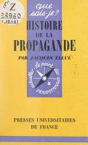 Pdf Histoire de la propagande Telecharger