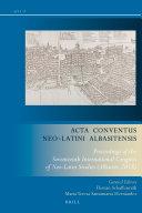 Acta Conventus Neo Latini Albasitensis