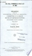 H R  3245  Commercial Space Act of 2003