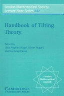 Handbook of Tilting Theory