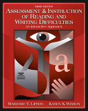 Assessment and Instruction of Reading and Writing Difficulty