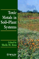Toxic Metals In Soil Plant Systems Book PDF