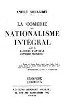 La comédie du nationalisme intégral