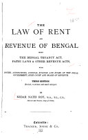 The Law of Rent and Revenue of Bengal