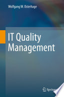It Quality Management Book PDF