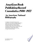 American Book Publishing Record Cumulative, 1950-1977