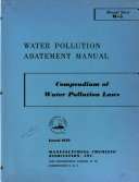 Compendium of Water Pollution Laws Book