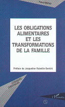 LES OBLIGATIONS ALIMENTAIRES ET LES TRANSFORMATIONS DE LA FAMILLE Book