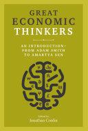 Great Economic Thinkers Pdf/ePub eBook
