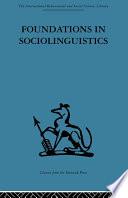 Foundations in Sociolinguistics