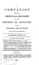 Companion for the Festivals and Fasts of the Church of England