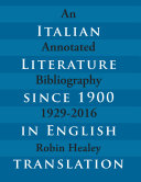 Italian Literature since 1900 in English Translation 1929 2016
