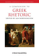 A Companion to Greek Rhetoric Pdf/ePub eBook