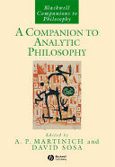 Pdf A Companion to Analytic Philosophy