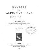 Rambles in Alpine Valleys