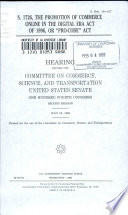 S. 1726, the Promotion of Commerce Online in the Digital Era Act of 1996, Or 'Pro-CODE' Act