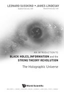 Pdf An Introduction to Black Holes, Information and the String Theory Revolution Telecharger