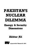 Pakistan s Nuclear Dilemma