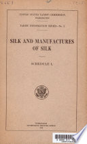 Silk and Manufactures of Silk Book