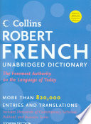 Collins Robert French Unabridged Dictionary, 8th Edition