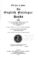 The English Catalogue of Books ...