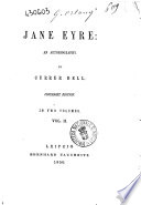 Jane Eyre an Autobiografy by Currer Bell